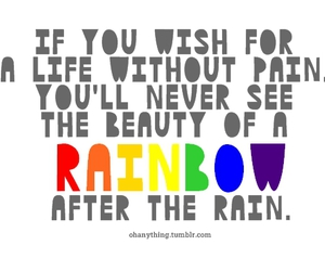 quote, rainbow, and life image