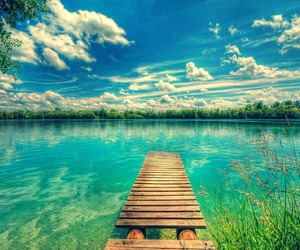 paradise, water, and blue image