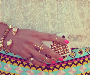 cross, jewelry, and pink image