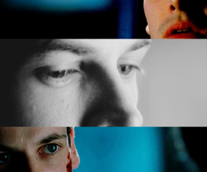 actor, eyes, and blood image