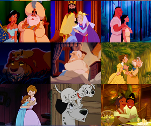 alladin, simba, and the little mermaid image
