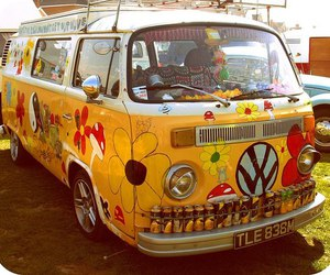 60s, hippy, and peace image