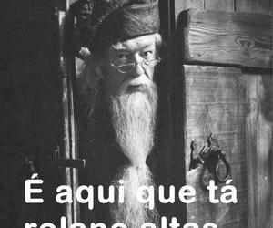 dumbledore, harry potter, and lol image