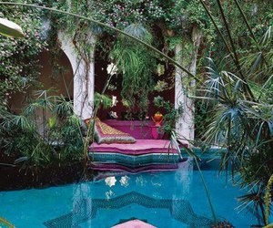 pool, pink, and relax image