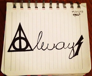7, always, and deathly hallows image