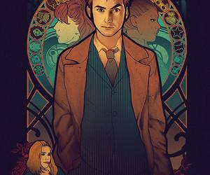 doctor who, david tennant, and art image