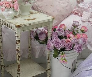 flowers, shabby chic, and pink image