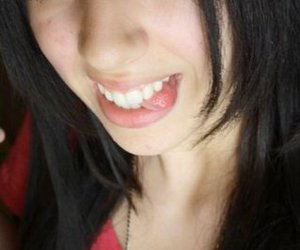 black hair, smile, and funny girl image