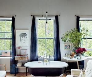 art, bathroom, and house image