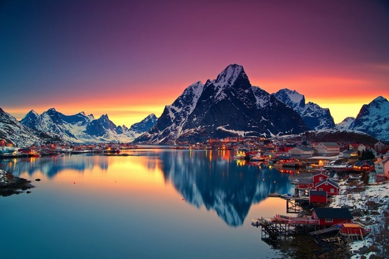 midnight sun, norway, and lofoten image