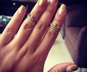 nails, ring, and glitter image