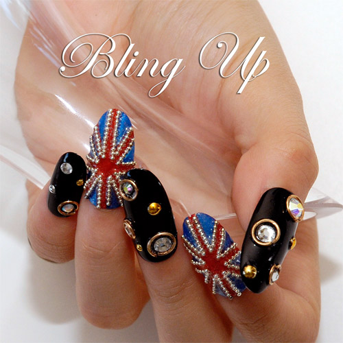 English flag nail art featuring swarovski rhinestones and metal english flag nail art featuring swarovski rhinestones and metal beads nail art diy decoden and cell phone cases prinsesfo Image collections