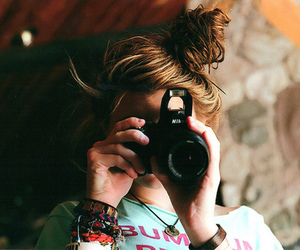 girl, camera, and photography image