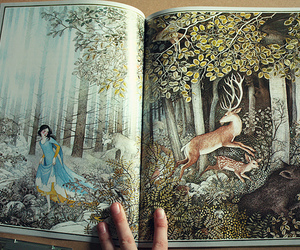 books, illustration, and snow white image