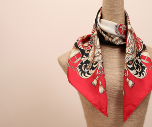 womens fashion scarf and hand-coloring silk scarf image