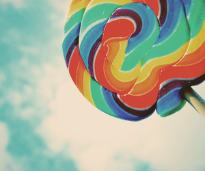 lollipop, candy, and sky image