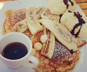 food, pancakes, and banana image