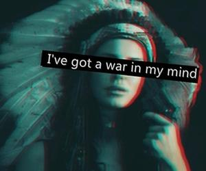 lana del rey, war, and mind image