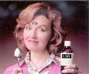 drugs, lsd, and woman image
