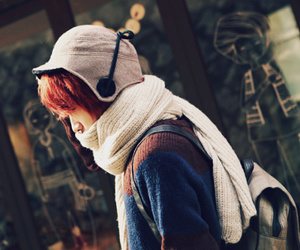 kfashion, korean, and red hair image