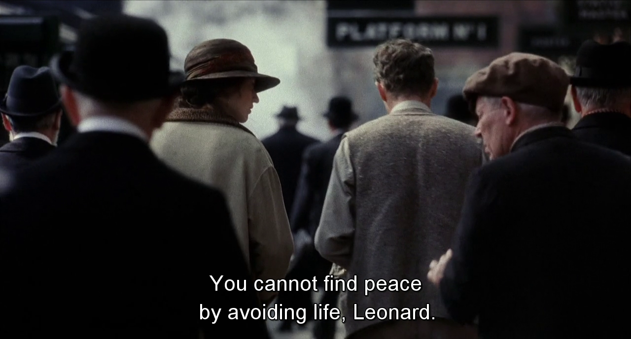 """Life Movie Quotes Sad Movie Quotes • """"You Cannot Find Peaceavoiding Life"""