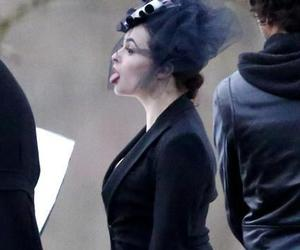 girl, helena bonham carter, and tim burton image