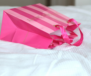 pink, girly, and shopping image
