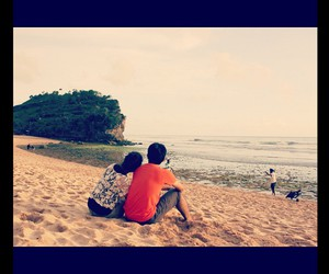 beach, couple, and moment image