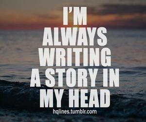 story, quotes, and head image