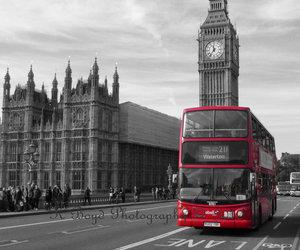beautiful, Big Ben, and bus image