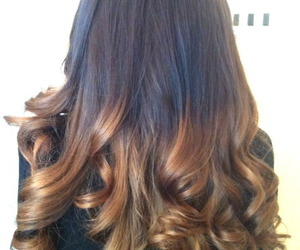 hair, ombre, and curls image