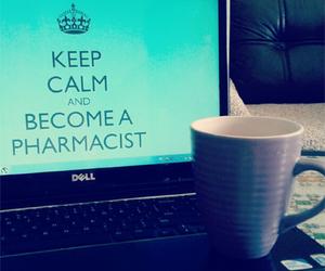 keep calm, laptop, and pharmacy image