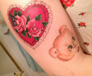 tattoo, cute, and heart image