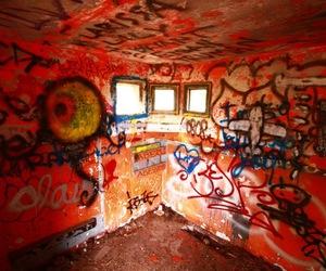art, graffiti, and room image