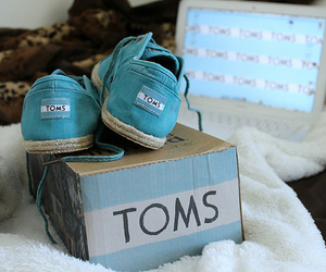 shoes, toms, and blue image