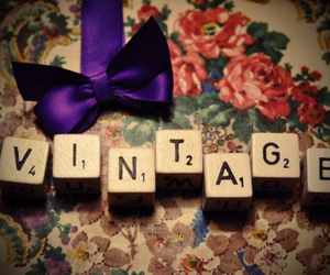 vintage, bow, and pretty image