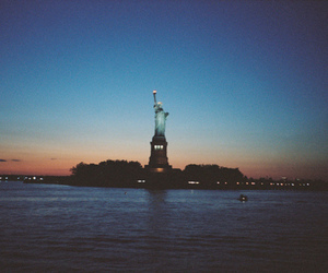 new york, statue of liberty, and city image