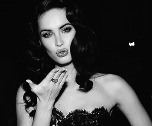 megan fox, black and white, and kiss image