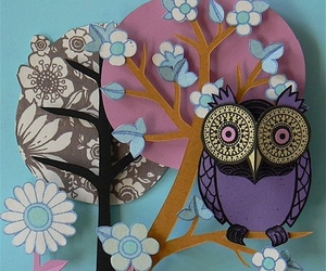 owl, Paper, and tree image