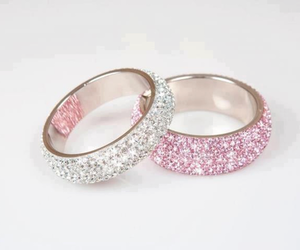 rings, pink, and girly image