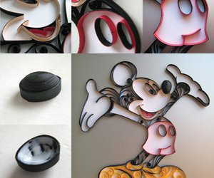 art, mickey, and quilling image
