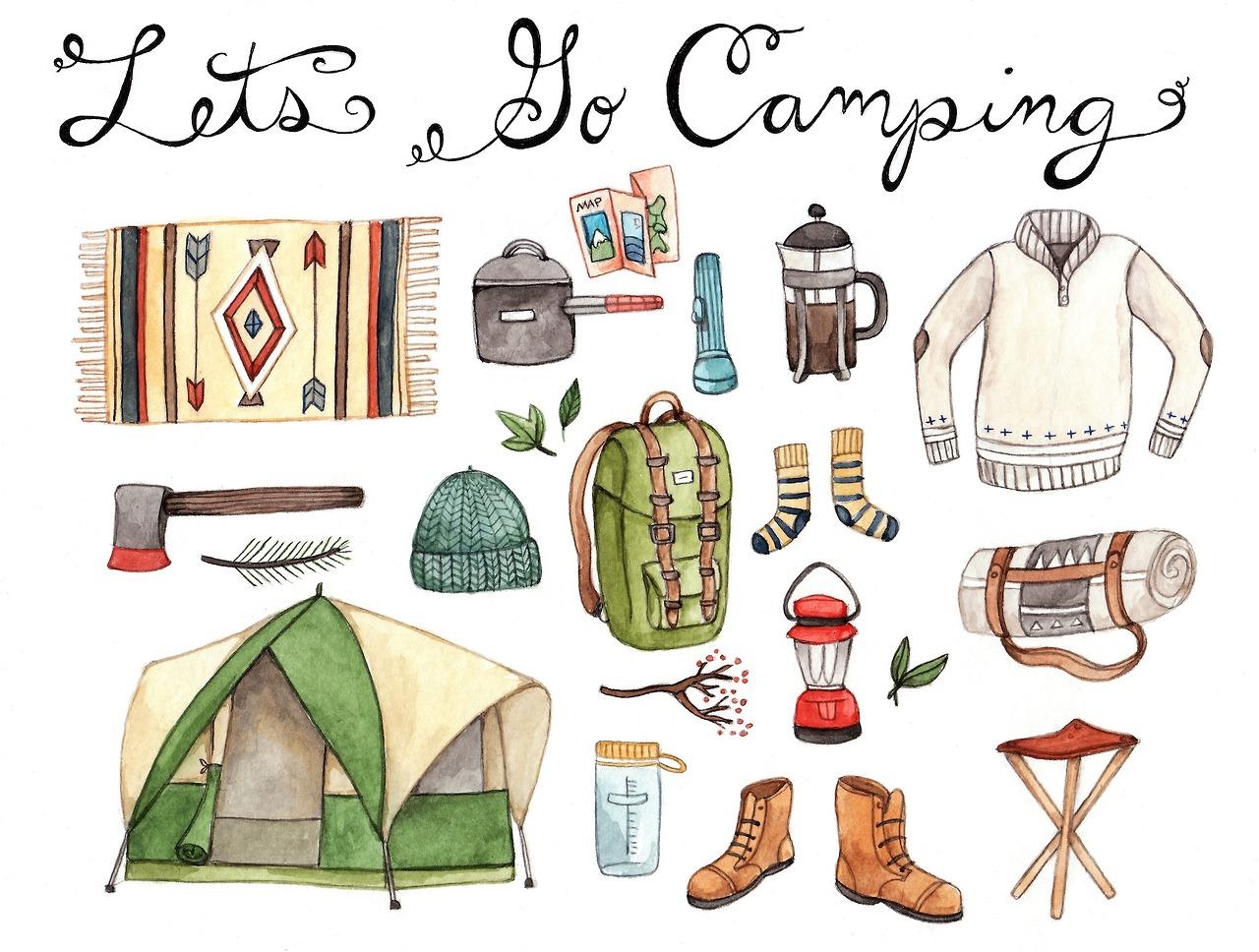 camping, drawing, and illustration image