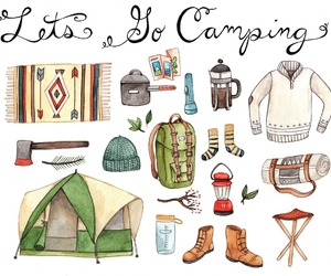 boots, camping, and illustration image
