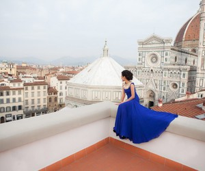 florence, blue, and dress image