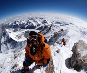 cold, winter, and everest image
