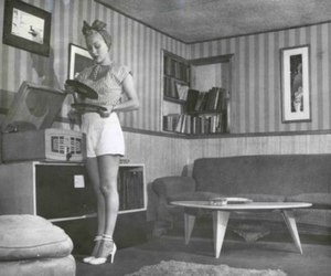 vintage, girl, and retro image