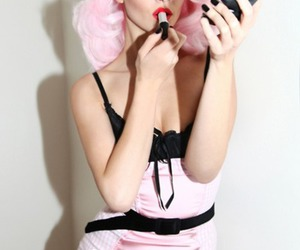cool, girl, and pink hair image