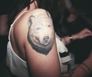 awesome, bear, and girl image