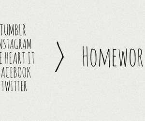tumblr, facebook, and homework image