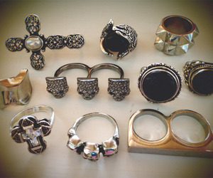 rings, ring, and cross image